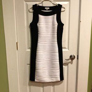 Calvin Klein black & white dress size 10
